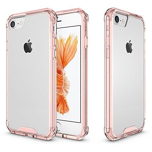 Meimeiwu Hohe Qualität TPU + Acrylic Bumper Crystal Clear Schutzhülle Protective für iPhone 7 - Rose Rot