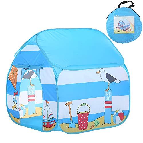TENCMG Large Kids Play Tent - Children Pop-Up Playhouse Tent - Girls Indoor Princess Castle - for Children Indoor and Outdoor Games,Blue,35.5x35.5x35.5in