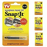 Set of 3 Snap It Eyeglass Repair Kits - As Seen On TV - One for Home, Work & Travel! by Glasses Accessories