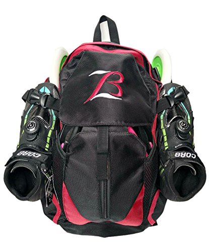 Xiami Leyuan Pro Racing Speed Inline Skates Ice Skate Backpack (red)