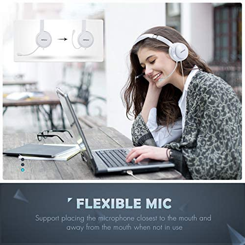 Mpow 071 USB Headset 35mm Computer Headset with Microphone Noise Cancelling Lightweight PC Headset