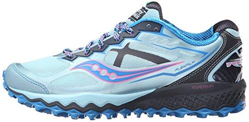 Saucony Peregrine 6Zapatillas de running para mujer, color morado/gris) Sky/Blue/Pink