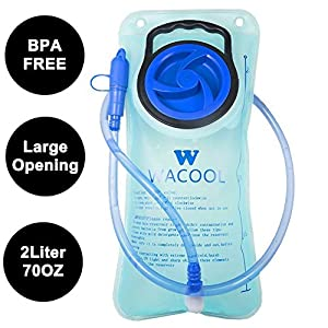 WACOOL 2L 2Liter 70oz PEVA Running Cycling Hiking BPA Free Hydration Pack Bladder, Leak-proof Water Reservoir