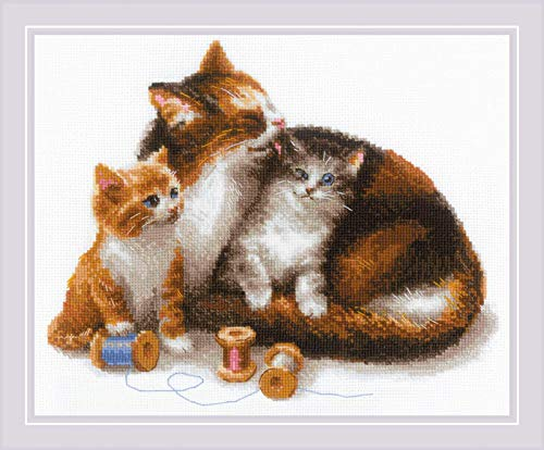 RIOLIS 1811 - Cat with Kittens - Counted Cross Stitch Kit 11¾