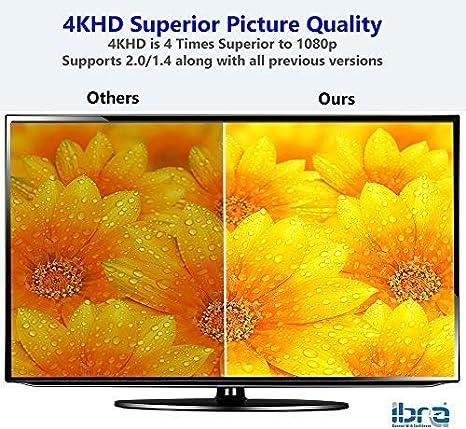 Cable de HDMI 2M - Ultra HD 4K@60Hz HDMI v2.0b   Alta Velocidad con Ethernet 18Gbps   Full HD 1080p / 4K Ultra HD 2160p / 3D / UHD/HDCP ARC y CEC:
