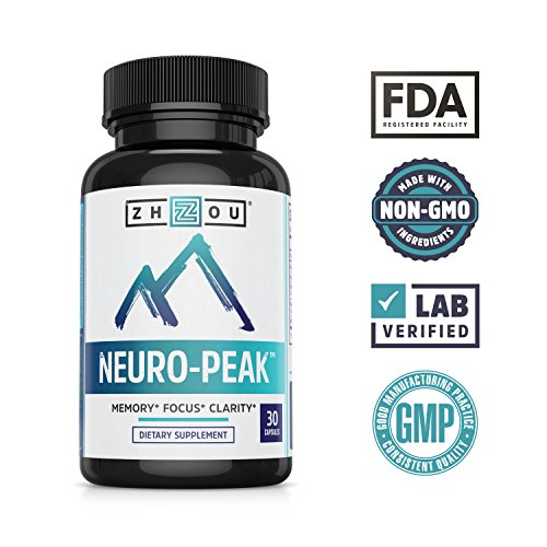 Neuro-Peak Brain Support Supplement, Nootropic Formulated for Memory, Focus, Clarity, 30 Capsules by Zhou Nutrition (Image #5)