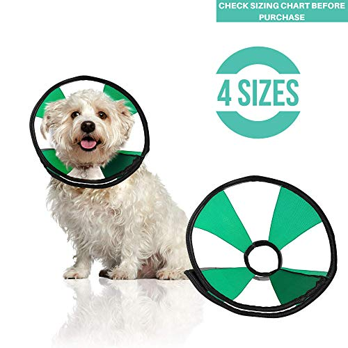 ProCollar Pet Recovery Cone E-Collar for Dogs and Cats - Comfortable Soft Collar is Adjustable for a Secure and Custom Fit - Easy for Pets to Eat and Drink - Works with Your Pets Collar (Small)