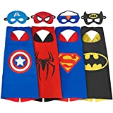 SPESS Comics Cartoon hero 4Pcs Capes and Masks costumes for kids