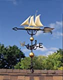 Yacht Weathervane 46in Gold-Bronze