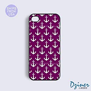 iPhone 5c Case - Purple Anchors iPhone Cover by mcsharks