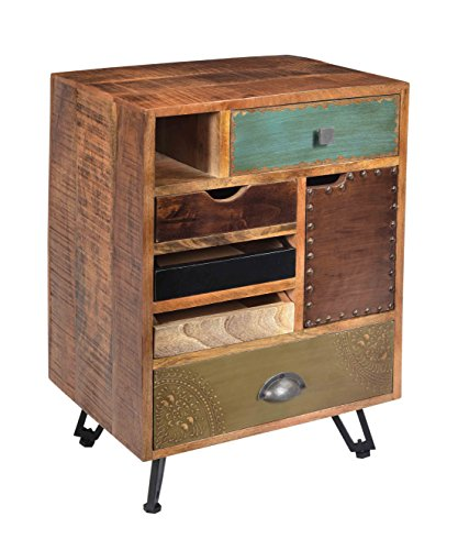 Treasure Trove Accents 17660 Brisbane Five Drawer One Door End Table, Multicolored by Treasure Trove Accents