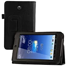 kwmobile Elegant synthetic leather case for Asus Memo Pad HD 7 in black with convenient STAND FEATURE