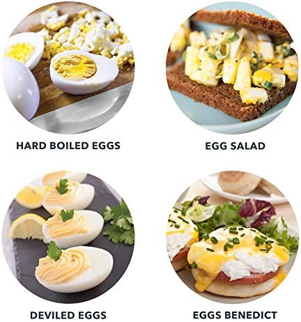 Dash Rapid Egg Cooker: 6 Egg Capacity Electric Egg Cooker for Hard Boiled Eggs, Poached Eggs, Scrambled Eggs, or Omelets with Auto Shut Off Feature – Aqua 51fNEHX4VxL