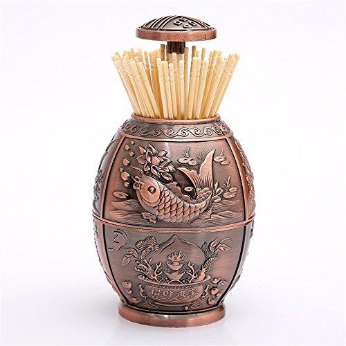 (LOSTRYY Creative Toothpick barrel Hand pressed automatic toothpick box,)