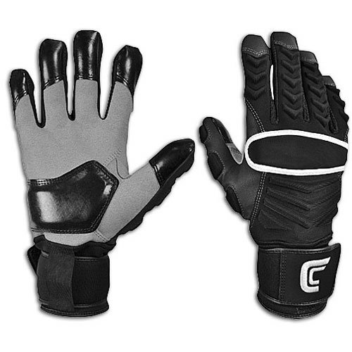 Cutters The Reinforcer Football Gloves (Black, Medium)