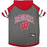 Wisconsin Badgers Pet Hoodie T-Shirt - Small