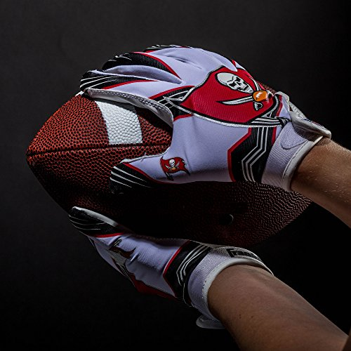 Franklin Sports NFL Team Licensed Youth Football Receiver Gloves Pair