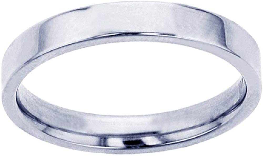 DECADENCE 10K or 14K Yellow & White Gold 2mm Polished Flat Comfort Fit Wedding Band, Size 4-14