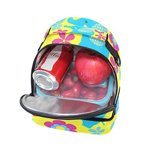 para Alinlo hombro colegio el con almuerzo el térmica Pincnic de ajustable Bolsa para el correa para xrqprw
