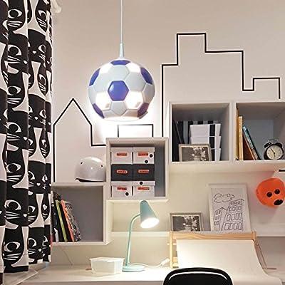 Fußballleuchte Fußball Lampe blau-weiß fürs Kinderzimmer ...