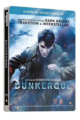 Dunkerque  Dunkirk  Limited Edition Steelbook 4K Uhd Blu Ray   Blu Ray Combo   Christopher Nolan  2017   4K Ultra Hd   Blu Ray   Digital Hd   Non Us Format   Import Edition