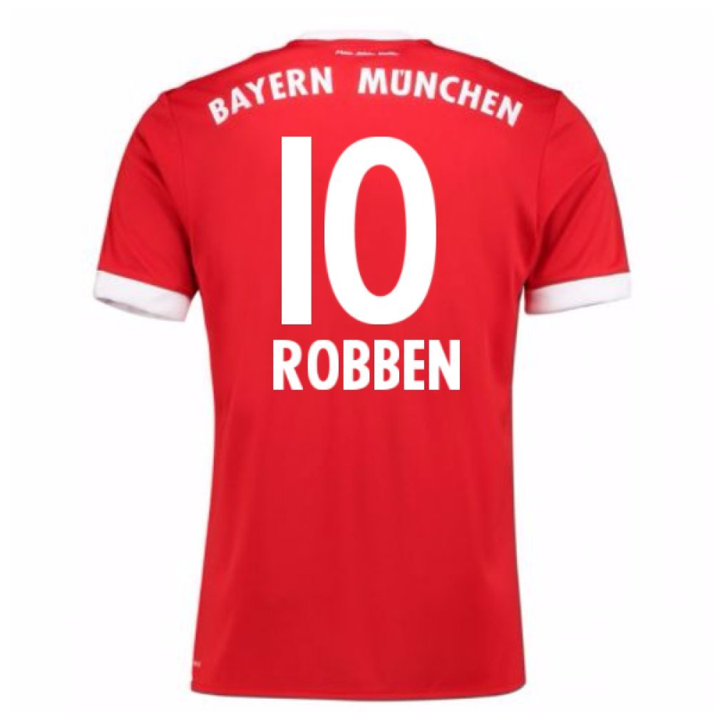 2017-18 Bayern Munich Home Short Sleeve Shirt (Robben 10) B078494YHGRed Medium 38-40\