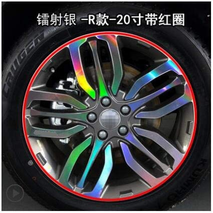 Laser Silver Brightly Plated colorful 20 Inch Rims Wheel Stickers for Great Wall Haval H7 BA037A  (color Name  Powder)