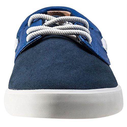 Lacoste Hombre Jouer cubierta 117 Zapatos de la cubierta 1 CAM, Azul Azul