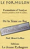 Le Formulon d'Analyse (Les Formulaires du prof. LeBon t. 2)