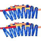 TecUnite 2 Packs Short Walking Rope with 12 Handles for Preschool Children Toddlers Daycare Schools Teachers