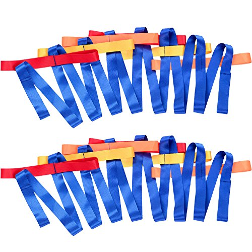 2 Pack Walking - TecUnite 2 Packs Short Walking Rope with 12 Handles for Preschool Children Toddlers Daycare Schools Teachers