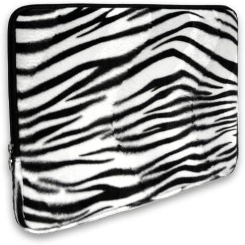 black Notebook Computer Macbook //Macbook Pro Macbook Air Sleeve Case Bag Cover Laptop Sleeve Zebra Pattern Canvas Fabric 10 Inch Laptop