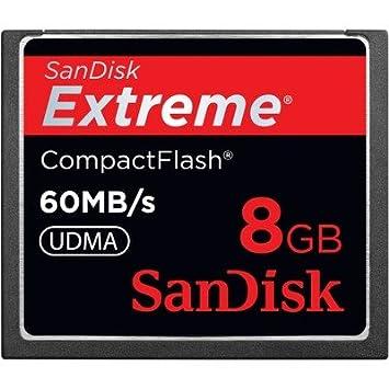 SANDISK Extreme - Tarjeta CompactFlash (CF, 8 GB, 1 tarjeta ...