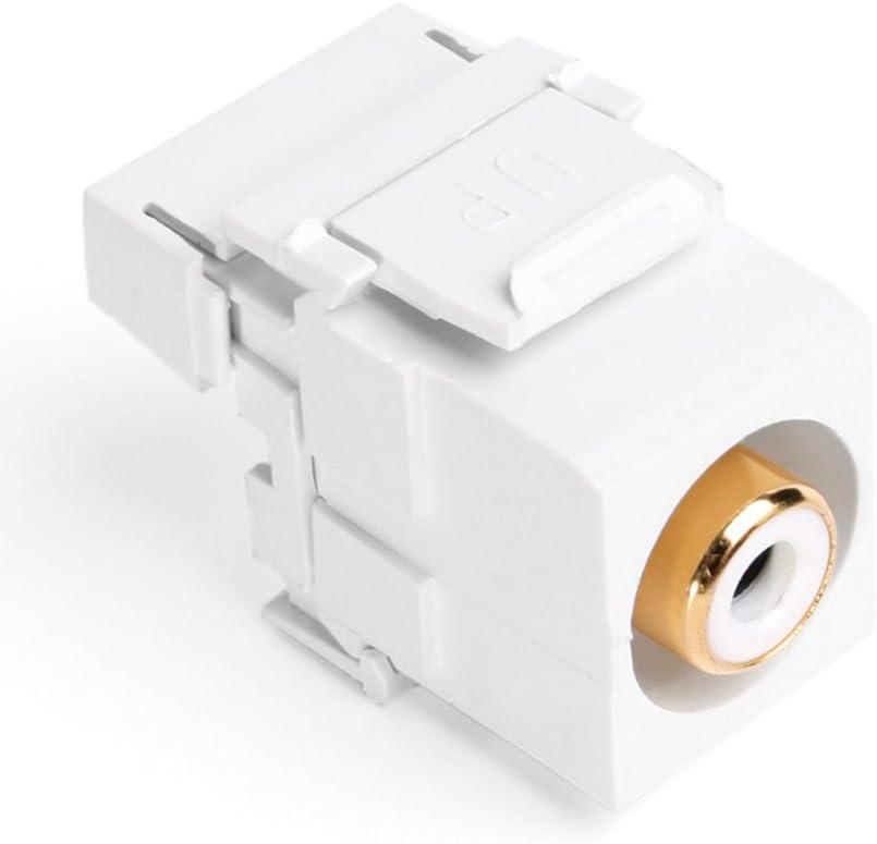 White White Barrel Leviton 40735-RWW QuickPort RCA 110-Type