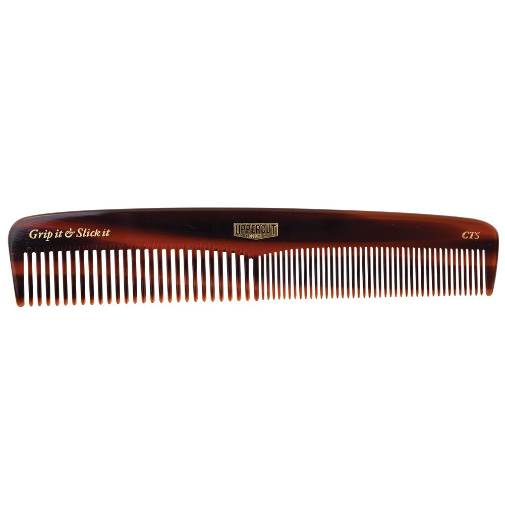 Uppercut Deluxe CT5 Tortoise Shell Comb - Easy to Use, Pocket Sized - Grip It & Slick It UPDCB0005A