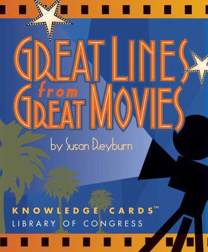 Great Lines From Great Movies Knowledge Cards Deck (Gifts For The Movie Lover)