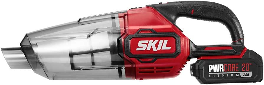 SKIL PWRCore 20V Handheld Vacuum, Includes 2.0Ah Lithium Battery and PWRJump Charger - VA593602