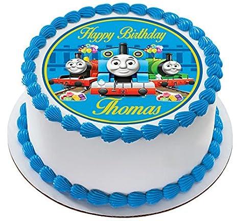 Amazon.com: Thomas Tren 2 Comestible torta de cumpleaños o ...