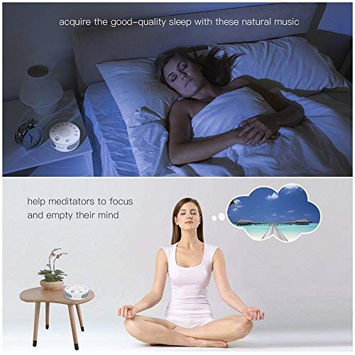 Clearance Sale YATWIN White Noise Machine, Portable Sleep Therapy Nature Sounds Machine for Home, Office & Travel with 9 Soothing Relaxing Sounds for Baby, Kids, Adults, Insomnia & Tinnitus Sufferer