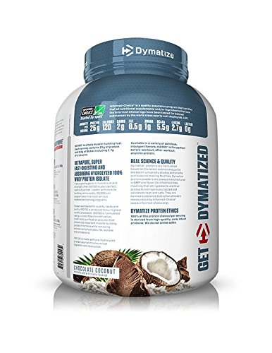 Amazon Dymatize ISO 100 Whey Protein Powder Isolate Chocolate Coconut 5 Lbs Health Personal Care