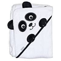 "Extra Large 40""x30"" Absorbent Hooded Towel, Panda, Frenchie Mini Couture"