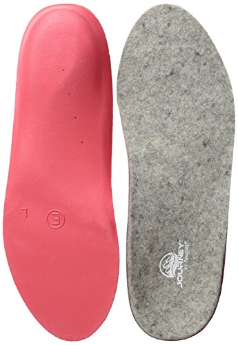 Powerstep Journey Wool Insoles Athletic Sandal, Gray/Red, Men's 5-5.5, Women's 7-7.5
