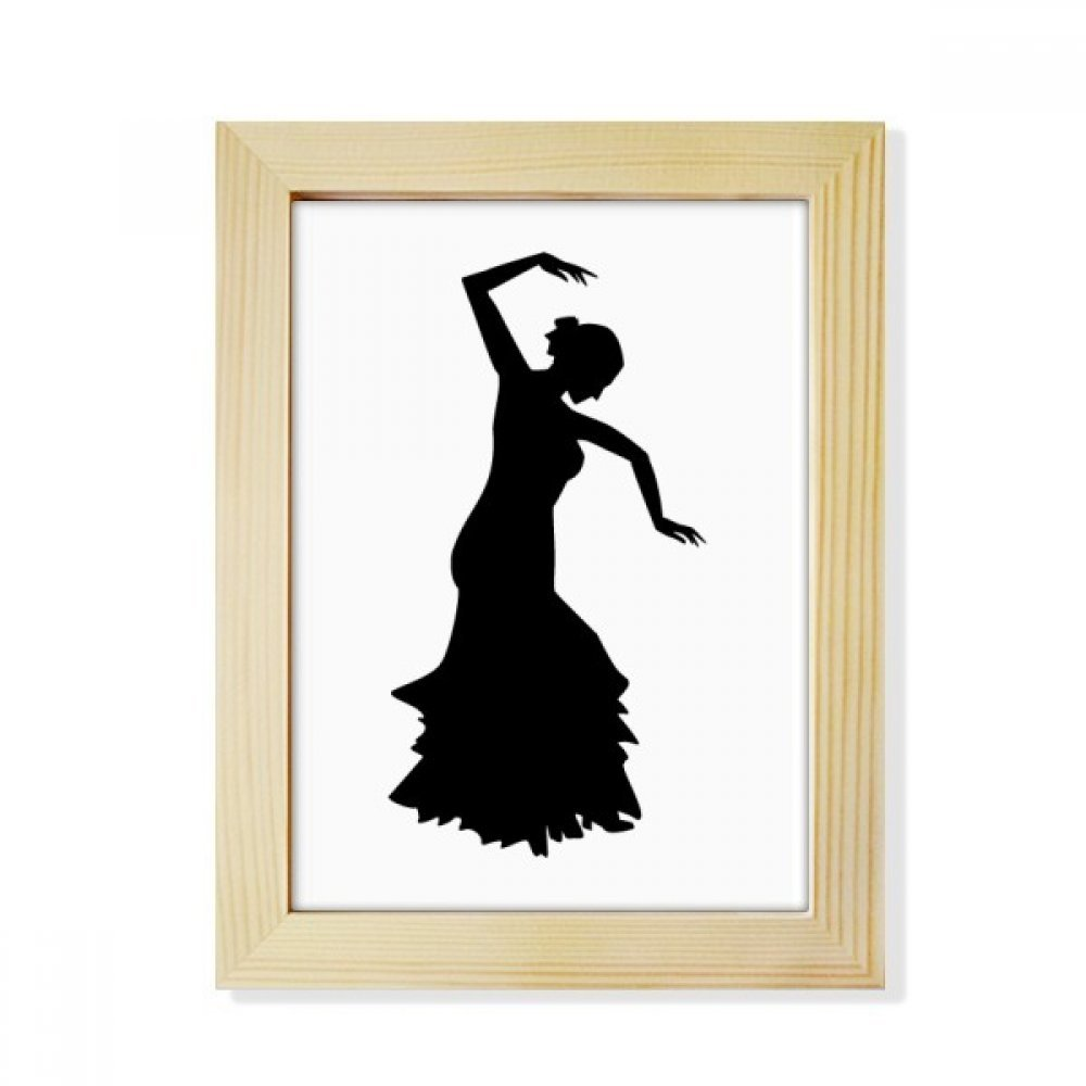 DIYthinker Performance Dancer Folk Dance Desktop Wooden Photo Frame Picture Art Painting 6x8 inch