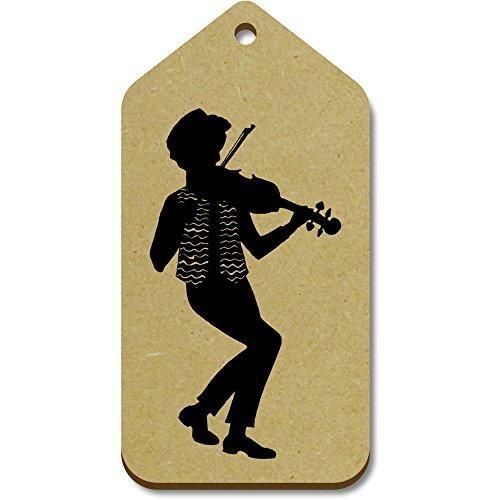 'Popular 51mm Azeeda violinist' 10 X Tag regalo tg00016212 Large 99mm bagaglio txSqYBSw