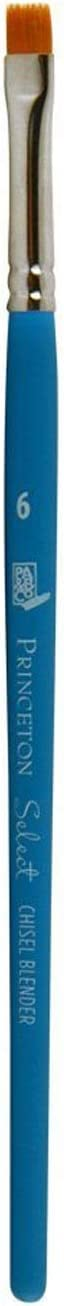 Princeton Artist Brush Select Synthetic Brush Chisel Blender Size 6
