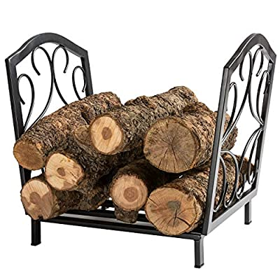 DOEWORKS Decorative Firewood Carriers Heavy Duty Stand for Indoor/Outdoor Fireplace