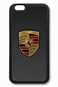 iPhone 6 Case - New Release Protective Black Case Cover for iPhone 6 Porsche Soft Rubber Armor Back Case Bumper for iPhone 6 4.7 Inches