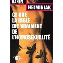 Ce que la Bible dit vraiment sur l'homosexualité