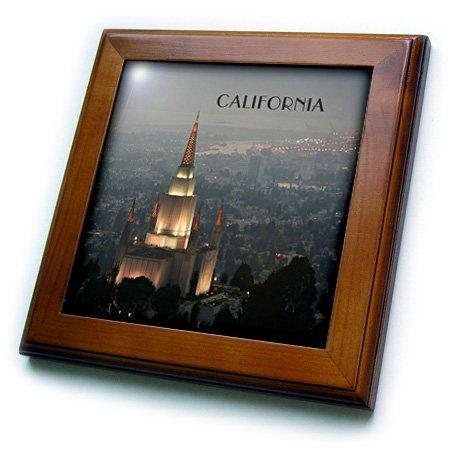 3dRose ft_62527_1 Mormon Temple in Oakland California Framed Tile, 8 by 8-Inch ()