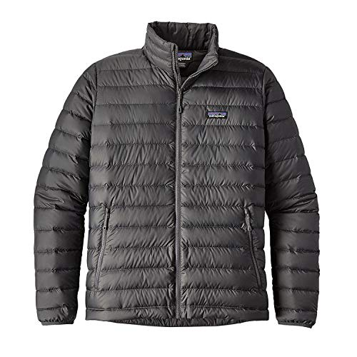 - Patagonia Men's Down Sweater Jacket (XX-Large, Forge Grey w/ Forge Grey)